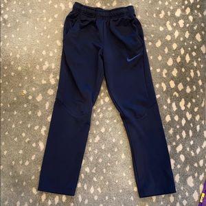 Nike navy boys large pockets performance sweats